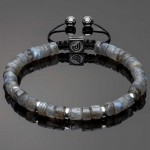 Heishi Labradorite Beads with Silver Spacers Bracelet