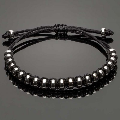Macrame Bracelet with Silver Stoppers DM11