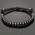 Macrame Bracelet with Silver Stoppers