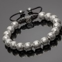 Side View of 925 Silver Indian Beads Bracelet DB7