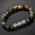 Golden Blue Tiger Eye & Silver Malaysian Beads