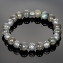 Labradorite Bracelet with Silver Malayesian Beads